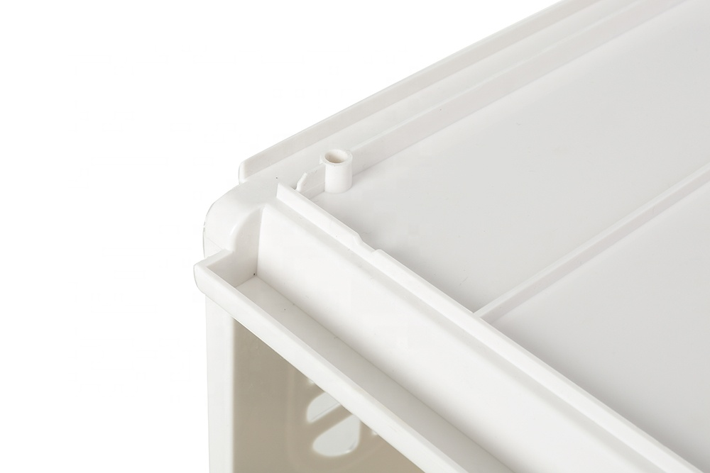 High quality durable easy use stackable plastic drawer type storage box with slide rail