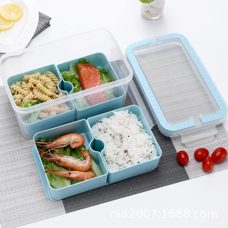 China hot 4 Compartment Stackable Microwave Plastic Lunch Box