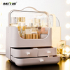 Plastic Acrylic dustproof skin care Makeup organizer Space capsule Cosmetic storage box dressing table desktop finishing box