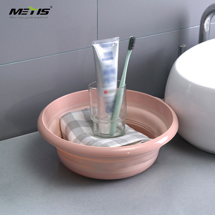 Foldable washbowl collapsible plastic wash basin plastic folding wash basin