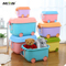 Wholesale price amazon popular cartoon children's toy box with wheels use for children