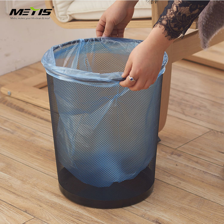 trash can waste basket creative handicraft stainless steel tie yi household receives Iron