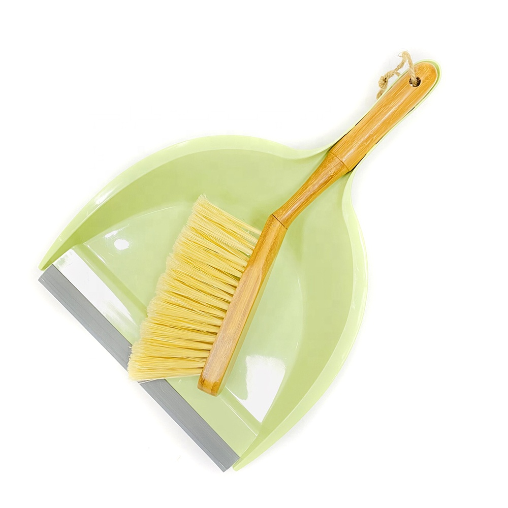 High Quality Eco-friendly Home Cleaning Dustpan Brush Set, Household Table Shovel Sweeping Bamboo Brush Set