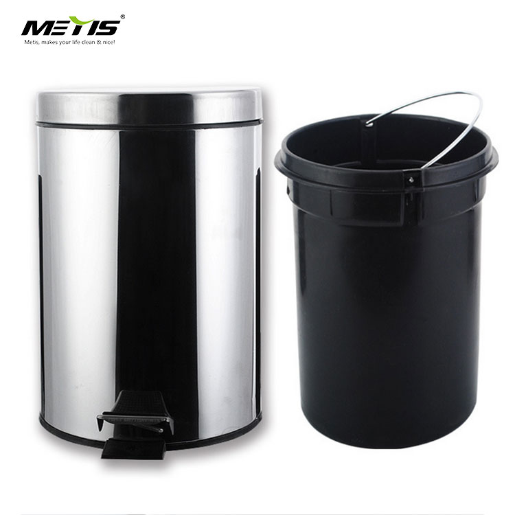 amazon best selling T005-6 foot Pedal type stainless steel garbage bin waste can