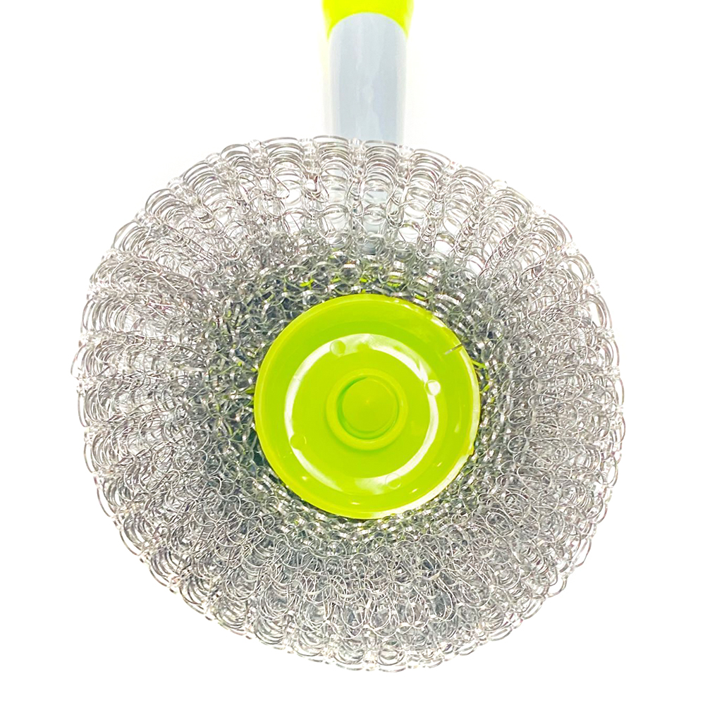 Wholesale Convenience Durable Soft Bristles pot brush ball Stainless Steel Scourer
