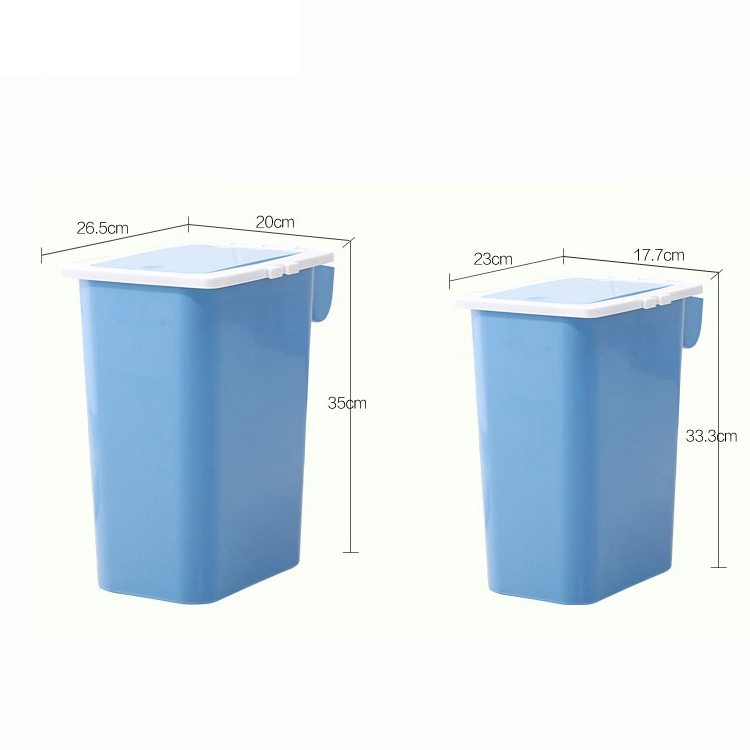 METIS hot sale office and home push plastic trash dust bin