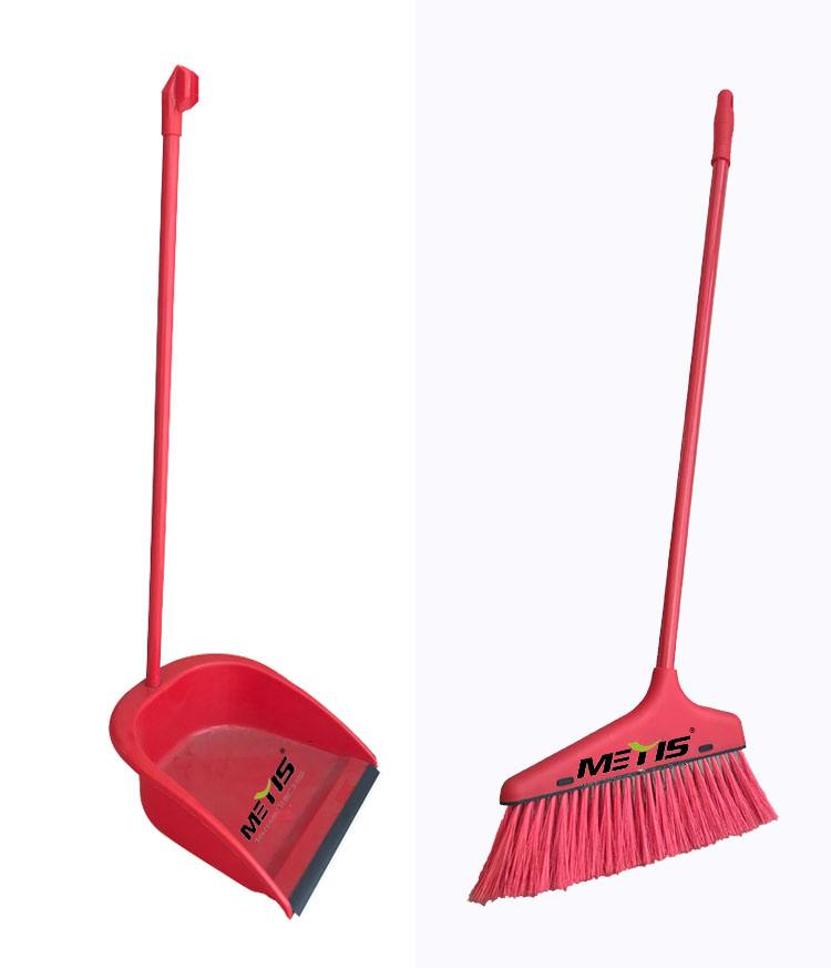 China Wholesale Hotel Cleaning Long Handle Soft Plastic Broom