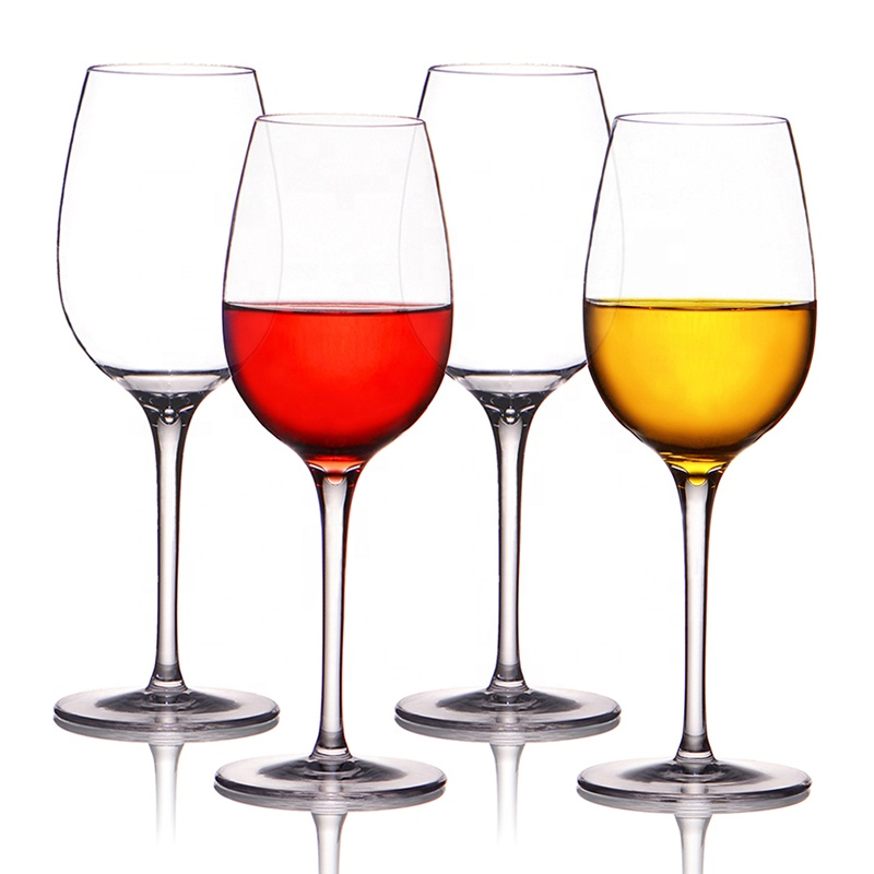 Clear Plastic Champagne Glasses BPA Free Stemless And Dishwasher Safe Unbreakable Tritan Plastic Red Wine Glasses