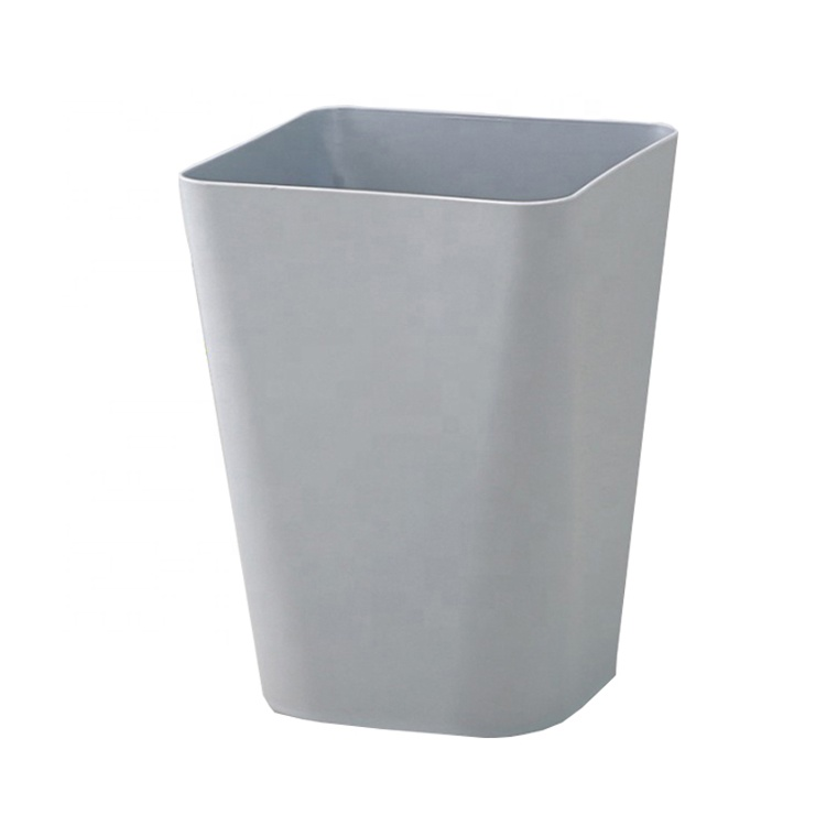 European and American style solid color simple plastic trash can use for office