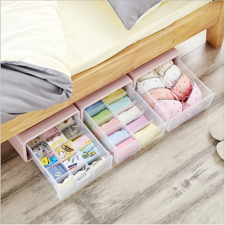 Customized Desgin Closet Underwear Organizer Drawer Divider for Bras Panties Socks Ties fabric pants storage box