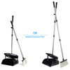 Hot Sale Telescopic Long Handle Kitchen Folding Windproof Broom And Dustpan Set