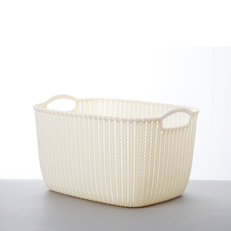 A8001-3 Large Size Environmental Creative Hollow Rattan Design PP Storage Boxes