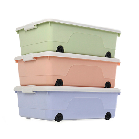 Stackable durable large capacity kids plastic toy storage box