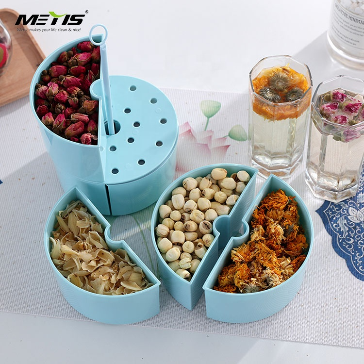 China wholesale practical round type 3 layers plastic lunch box food container