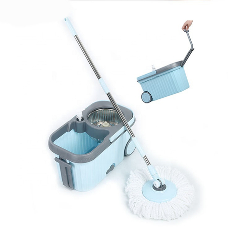 360 degree smart easy cleaning magic mop household plastic spin flat mop with bucket