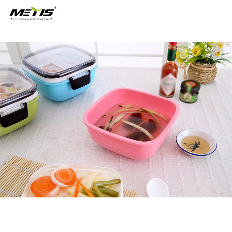baby safety A6097 Buckle lock plastic two layers lunch box indonesia