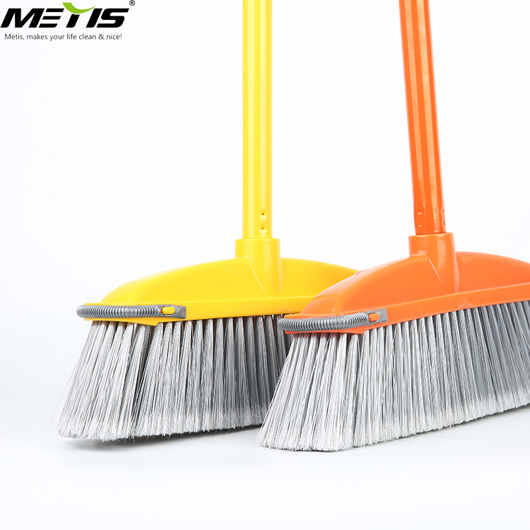 New Style Hot Sale Low Price Good Bristle Iron Handle Soft Plastic Sweep Easy Broom