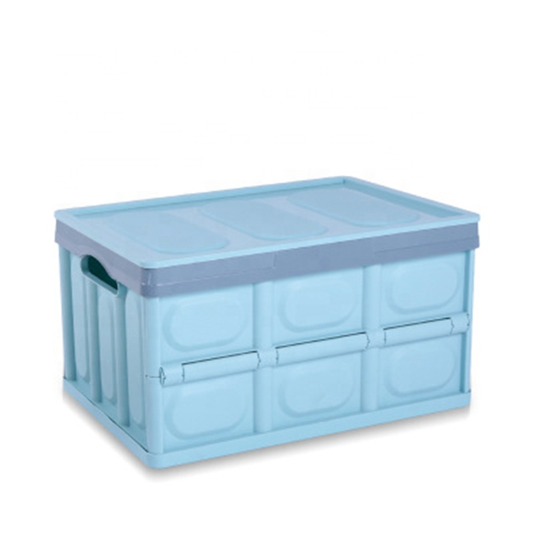 Wholesale vehicle-mounted foldable plastic collapsible storage box with lid