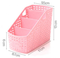 Wholesale price trapezoid three plastic storage box use for office/school desktop