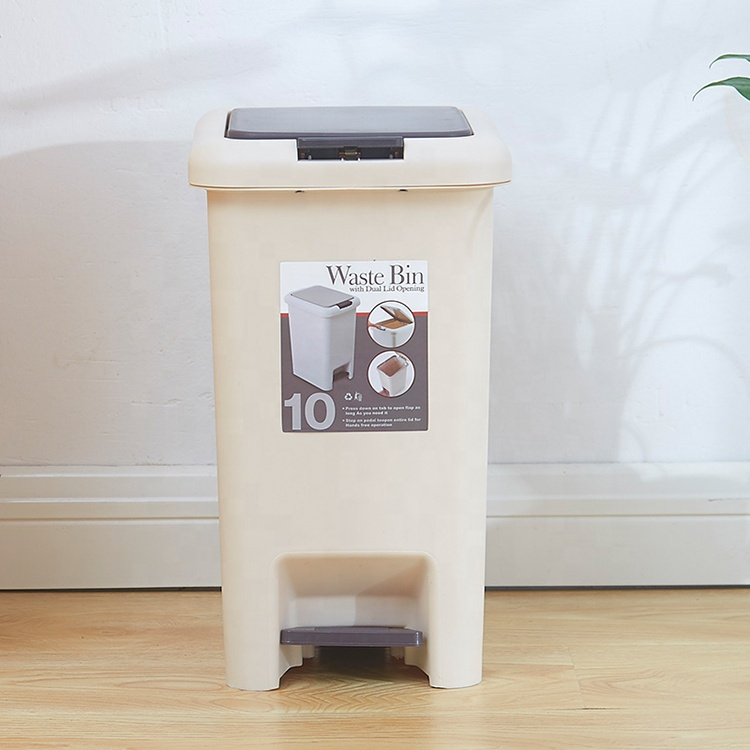 Plastic trash can home living room bedroom press type kitchen bathroom creative trash can large covered paper basket