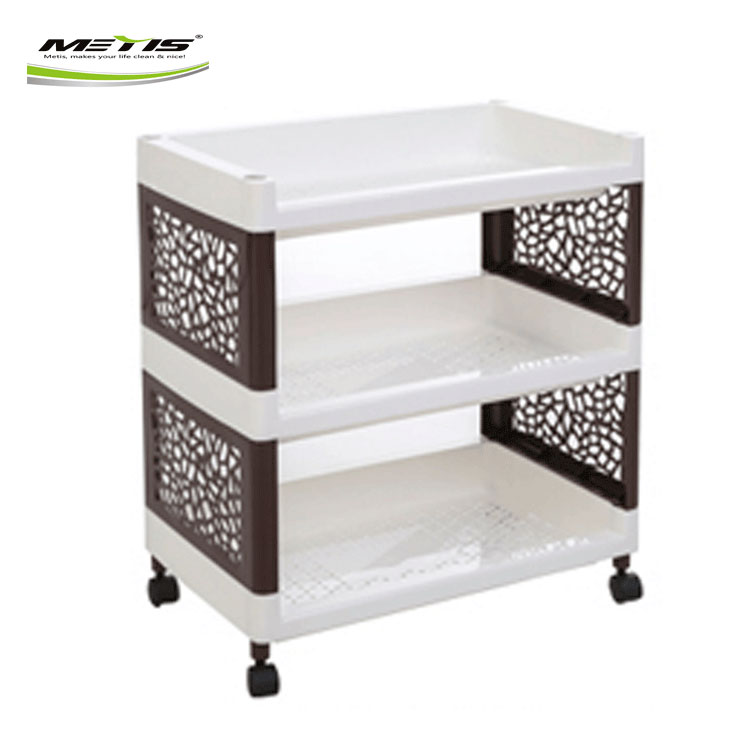 Metis A7017 Hot Sale Household Plastic Multipurpose Shelf Display Rack for Kitchen Bathroom