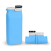 A Traveling Foldable Bpa Free Silicone Drinking Collapsible Sports Water Bottle With Custom Logo