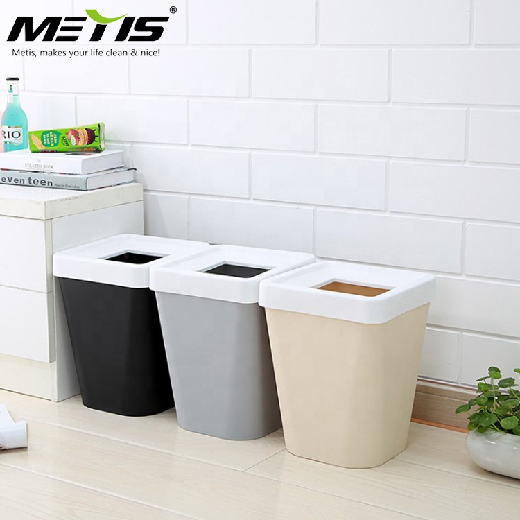 China High Quality Small Square Plastic Dustbin with Lid