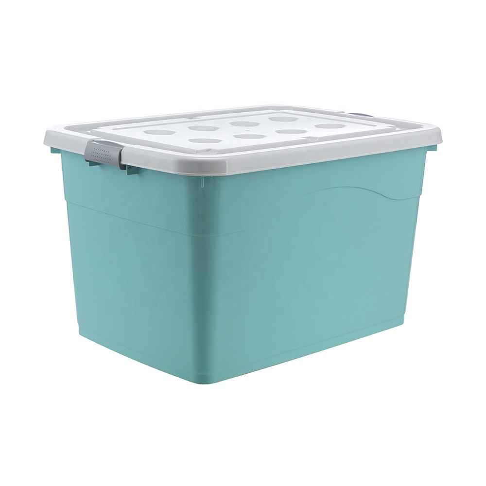 Stackable big capacity easy carry clothes fabric storage box with lid