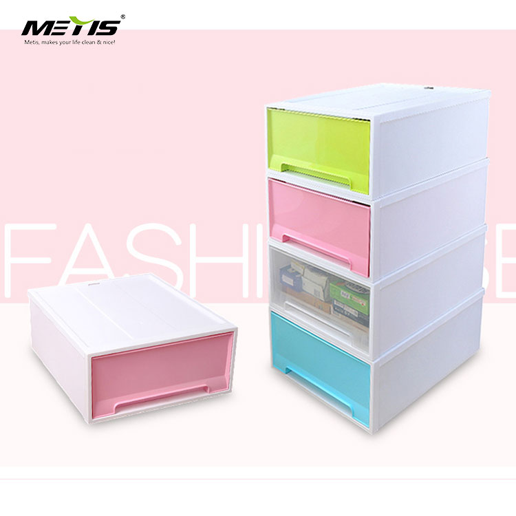 metis B6011-2 Wide Free combination White Frame Clear Drawers storage boxes