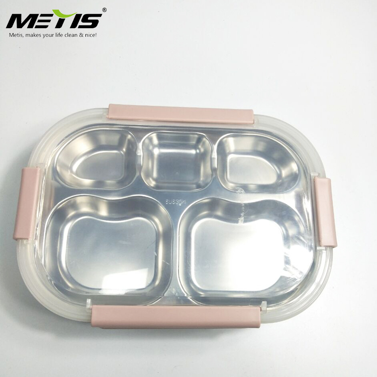 Airtight Leak Proof Easy Snap Lock Plastic Food Container Set Kids Lunch Box