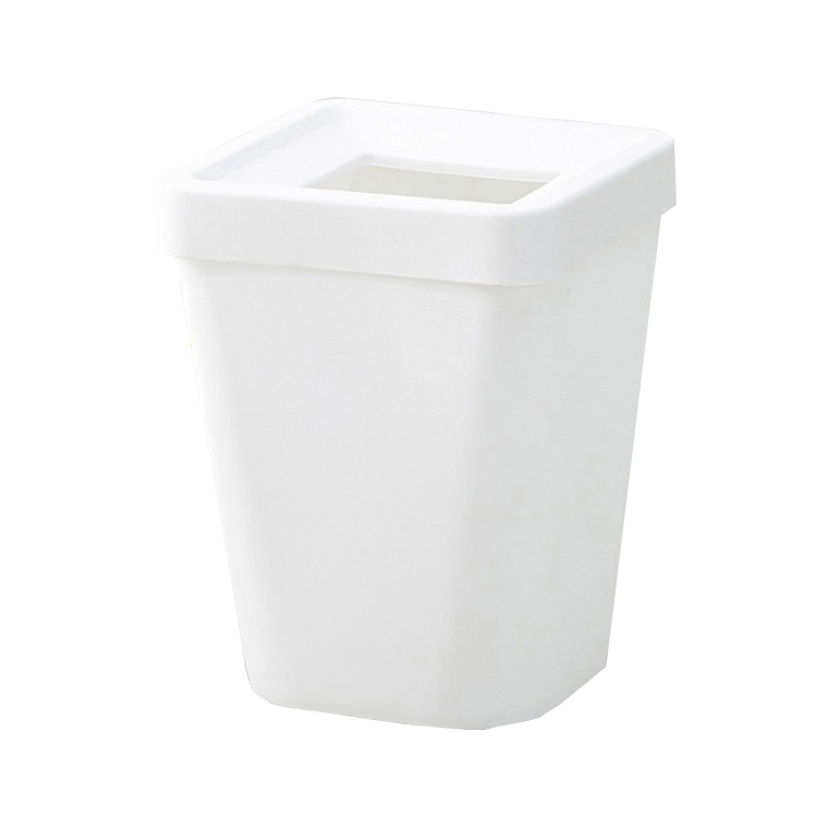 Universal function Rectangular white trash bin plastic garbage can for home and office