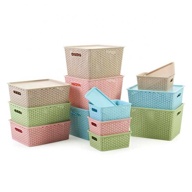 High quality and guaranteed household type rectangular storage box with lid