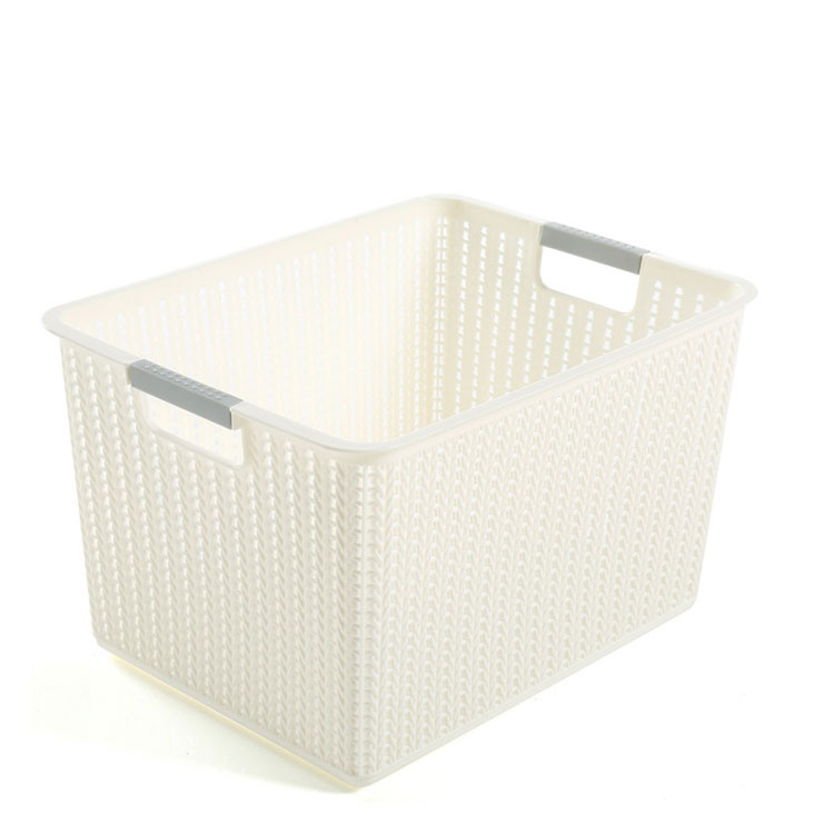 New high woven quality food plastic containers multifunctional storage basket