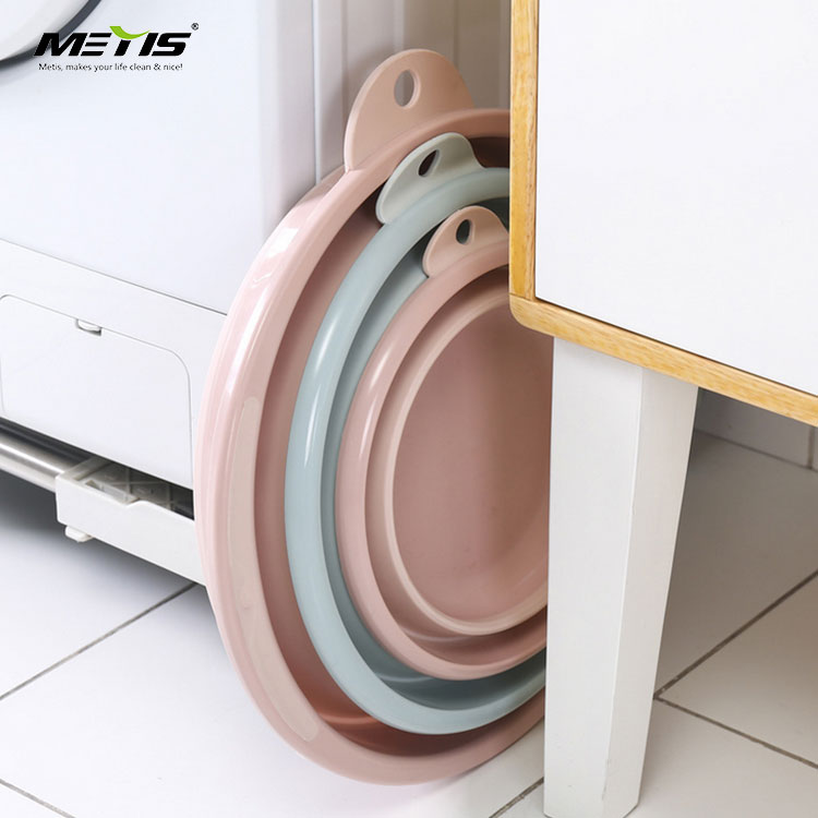 2019 new design A7039-3 big 42cm collapsible plastic folding wash basin