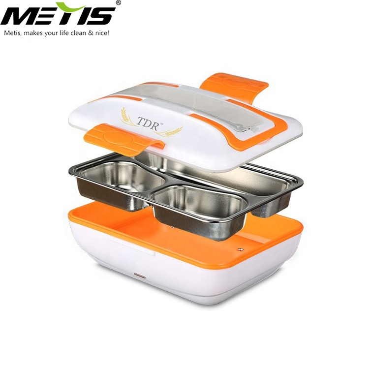 Metis B9006 Keep Food Warm Heatable Stainless Steel American Style Electrical Lunch Box