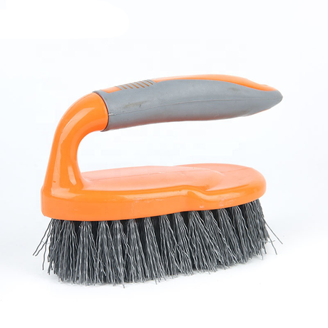 Durable plastic laundry brush with TPR handle