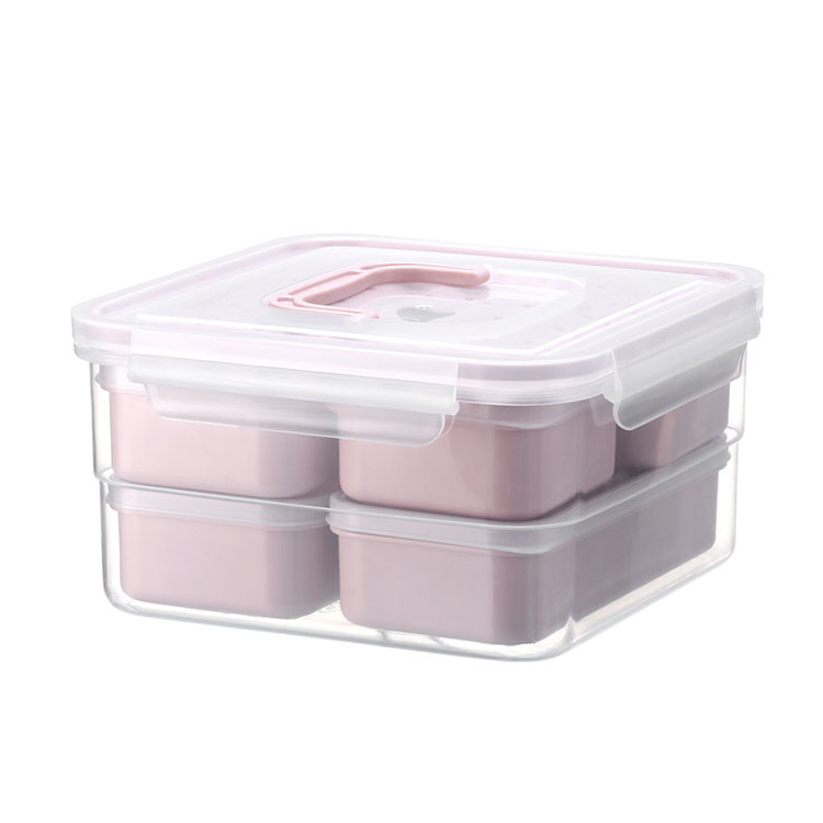 BPA free seafood fried rice salad plastic bento lunch box for camping