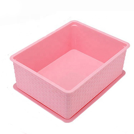 Eco-Friendly Double Open Lid Under Bed Plastic Storage Box With lid